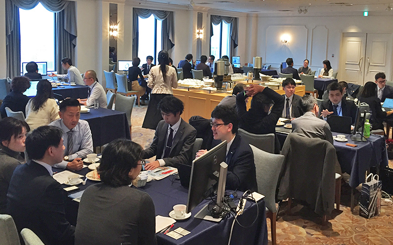 We had held the hands-on seminars of TOSS at Daiichi Hotel Tokyo in Shimbashi, Tokyo and 75 customers were joined it.