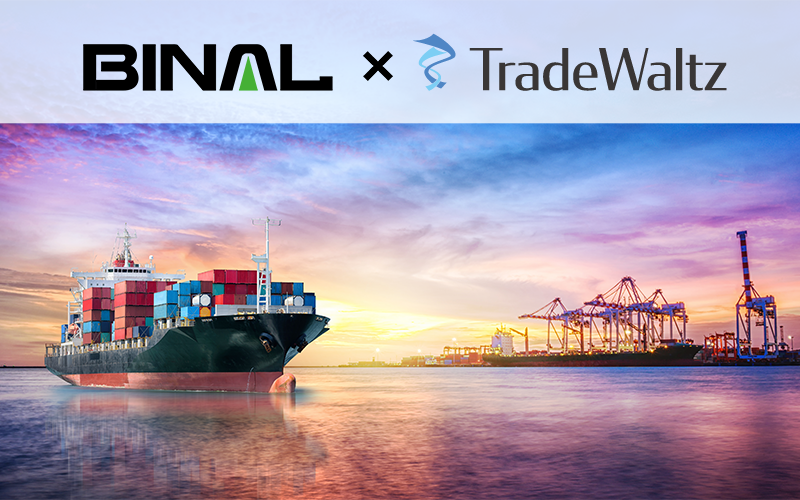"""About the connection with """"TOSS"""", the No.1 share systems of international logistics<br>systems and """"TradeWaltz"""", the platform of trading completely digitization."""